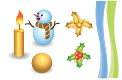 Les objets de Chirstmas Image stock