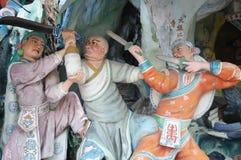 Les objets exposés de statue à la baie d'aubépine de Singapour Par le parc à thème de villa Photographie stock libre de droits