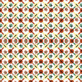 Les objets géométriques colorés sur un modèle sans couture de vecteur de fond clair wallpaper Photographie stock