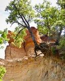 Les Ocres du Roussillon Royalty-vrije Stock Foto's