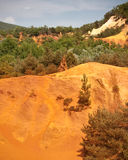 Les Ocres du Roussillon. Also know as The little colorado Stock Image