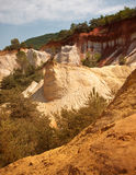 Les Ocres du Roussillon. Also know as The little colorado Stock Images