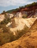 Les Ocres du Roussillon Stock Afbeeldingen