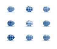 Les oeufs de pâques de vacances ont placé sur le fond blanc dans le style de tartan Image libre de droits