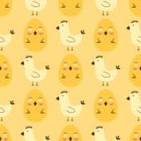 Les oeufs de pâques peints avec le jeu coloré multi de vacances d'aliment biologique de fond sans couture de modèle de ressort di Photographie stock libre de droits
