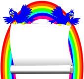 Les oiseaux avec l'arc-en-ciel Images stock