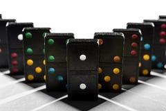 La géométrie d'ombre de domino photo libre de droits