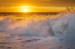 Les ondes de mer éclabousse Photographie stock libre de droits