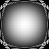 Les ondes encadrent le blanc sur le noir Illustration de Vecteur