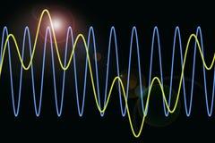 Les ondes harmoniques diagram le fond illustration libre de droits