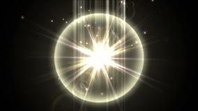 les ondulations de raies de rayonnement d'énergie de la science de la technologie 4k tiennent le premier rôle l'explosion, feux d