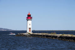 Les Onglous lighthouse, Agde, France Stock Photography