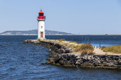 Les Onglous lighthouse, Agde, France Royalty Free Stock Image