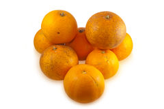 les oranges empilent mûr Images stock