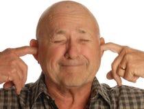 les oreilles équipent brancher l'aîné Photos stock