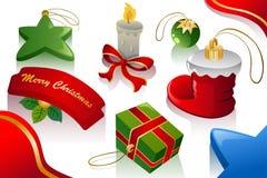 les ornements de Noël de fond prudemment ont retouché repéré Image libre de droits
