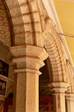 Les ornements de pierre dans le palais de Bangalore Photo libre de droits