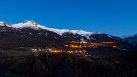 Les Orres by night Royalty Free Stock Photography