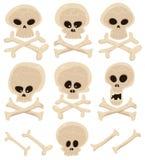 Les os de crâne et de croix ont placé Photo stock