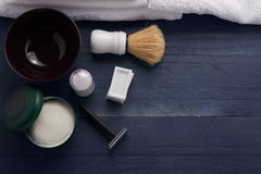 Les outils aideront le coiffeur à travailler photo stock