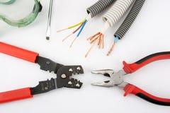Les outils de l'électricien Photographie stock