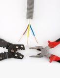 Les outils de l'électricien Photo libre de droits