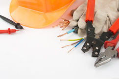 Les outils de l'électricien Photo stock