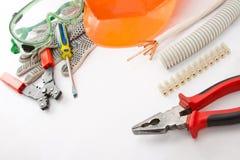 Les outils de l'électricien Images stock