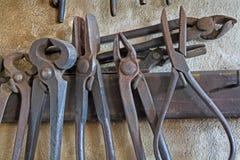 Les outils de la forge Image libre de droits