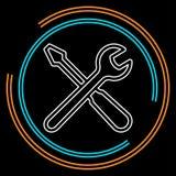 Les outils de vecteur signent - le symbole d'entretien illustration de vecteur