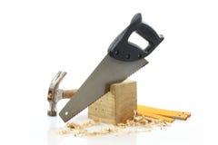 Les outils du charpentier Photo stock