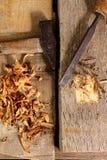 Les outils du charpentier Photos stock