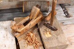 Les outils du charpentier Photographie stock