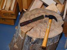 Les outils du charpentier Images stock