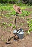 Les outils du jardinier Images stock