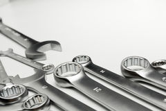 Les outils en acier de clé pour la réparation Images stock
