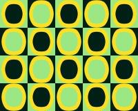 Les ovales de remplacement d'art de bruit modèlent le noir de vert jaune Image stock