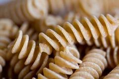 Les pâtes de blé entier tournoient l'instruction-macro Image libre de droits