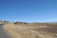 Les périphéries de la ville de La Paz Images libres de droits