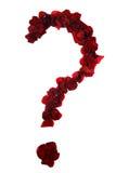 Les pétales de Rose questionner-partagés Image libre de droits