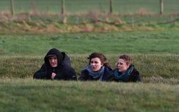 Les païens et les druides marquent le solstice d'hiver chez Stonehenge Photographie stock libre de droits