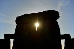 Les païens marquent Autumn Equinox chez Stonehenge Image libre de droits