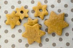 Les pains d'épice tchèques savoureux traditionnels, Noël se tient le premier rôle sur la table image stock