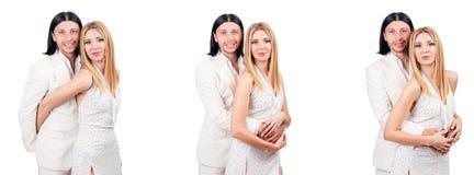 Les paires de l'homme et de la femme dans l'amour Photo libre de droits