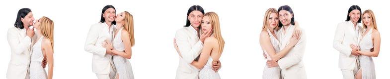 Les paires de l'homme et de la femme dans l'amour Image libre de droits