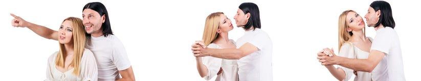 Les paires de l'homme et de la femme dans l'amour Photo stock