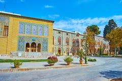 Les palais du complexe de Golestan, Téhéran Image stock