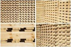 Les palettes en bois de collage empile des images d'isolement par livraison d'expédition images libres de droits