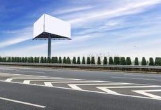 Les panneaux d'affichage vides extérieurs Image libre de droits