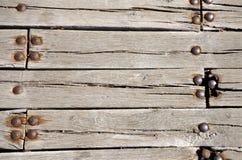 Les panneaux de pont en bois Images stock